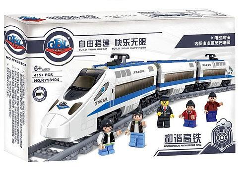 Коробка аналог Lego Train Пассажирский электропоезд | 60051 и 7897 | LEGOREPLICA