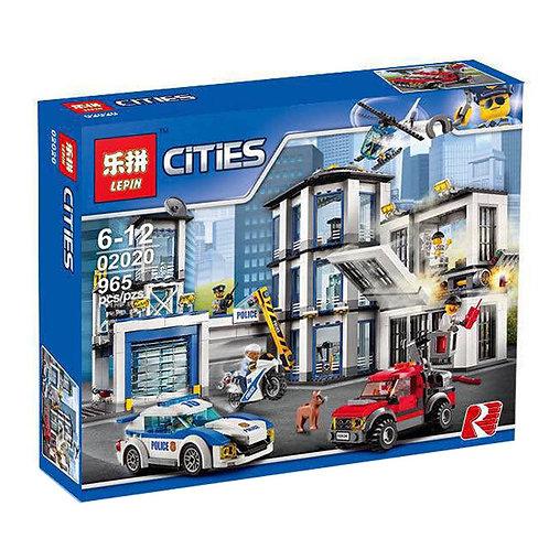 Коробка аналог Lego City Полицейский участок   60141 и 60047   LEGOREPLICA