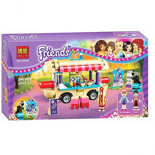 Коробка аналог Lego Friends Парк развлечений: фургон с хот-догами | 41129 | LEGOREPLICA