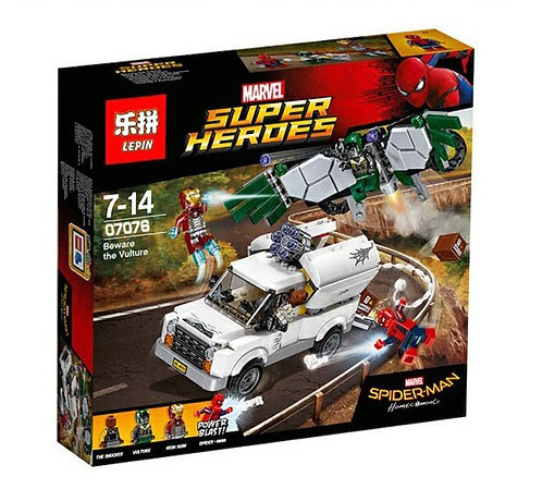 Коробка LEPIN Super Heroes Series Берегись Стервятника | 76083 | IQREPLICA