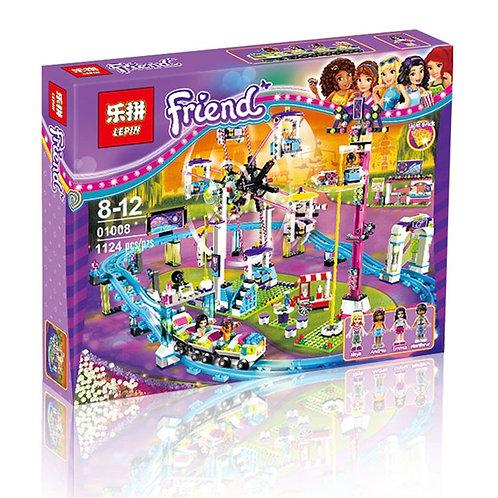 Коробка аналог Lego Парк развлечений: американские горки   41130   LEGOREPLICA
