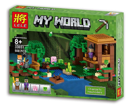 Коробка LELE Minecraft Хижина ведьмы   21133   IQREPLICA