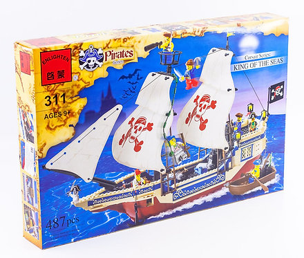 Коробка BRICK Pirates Корабль корсаров «Царь морей»   IQREPLICA
