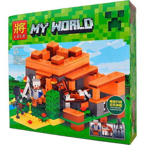 Коробка LELE Minecraft Домик с конюшней | IQREPLICA