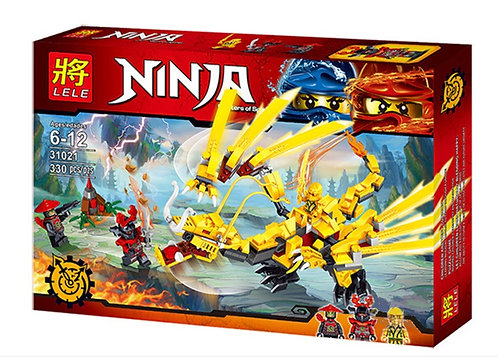 Коробка LELE Ninjago Золотой дракон ниндзя   IQREPLICA