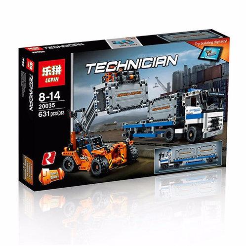 Коробка аналог Lego Technic Series Контейнерный терминал | 42062 | LEGOREPLICA