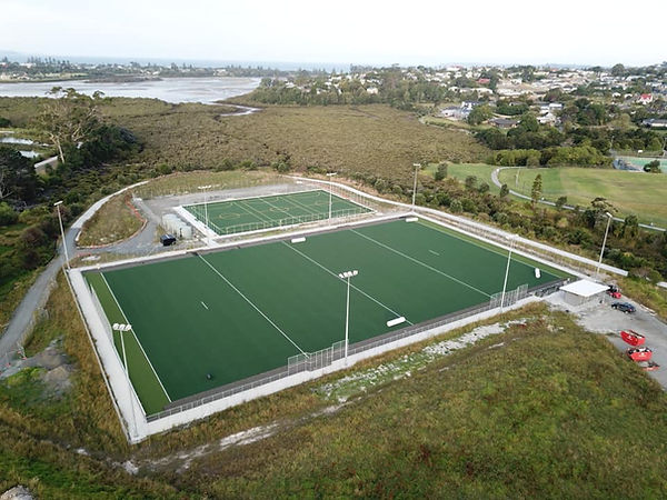 hockey turfs at Millwater + Orewa Estuary