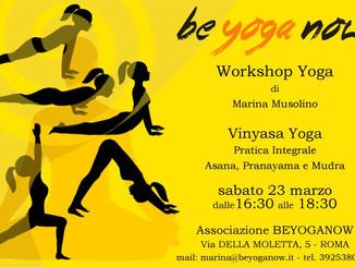 YOGA INTEGRALE- Asana Pranayama Mudra - Sabato 23 Marzo 16:30-18:30