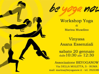 Vinyasa YOGA - Asana Essenziali - Sabato 20 Gennaio