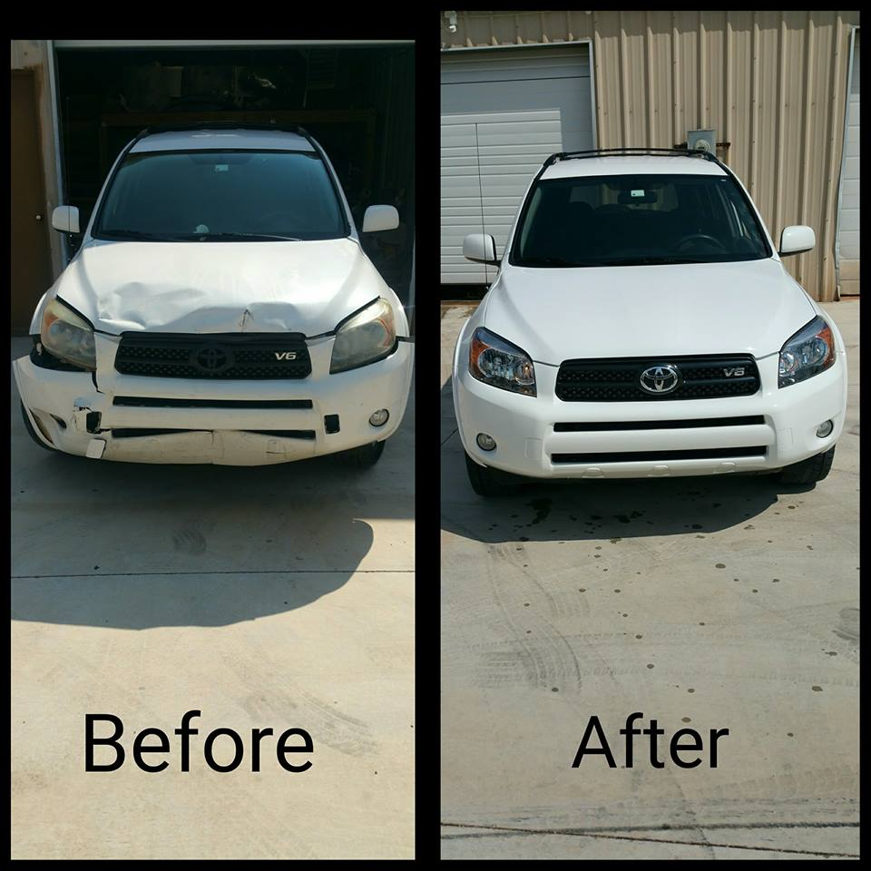 Hilary RAV 4 before and after