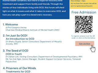 I Am Me, Not My OCD: A Public Forum on OCD