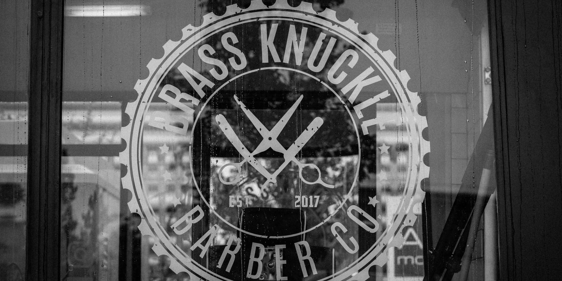 Brass Knuckle Barber co logo
