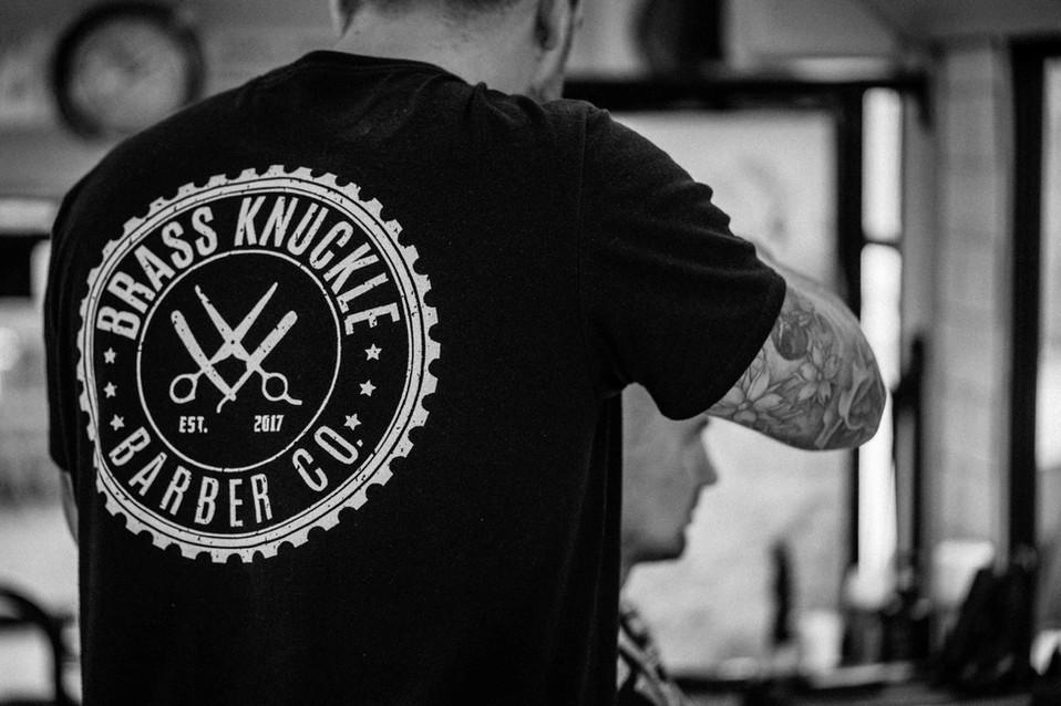 Brass Knuckle Barber Co logo t-shirt