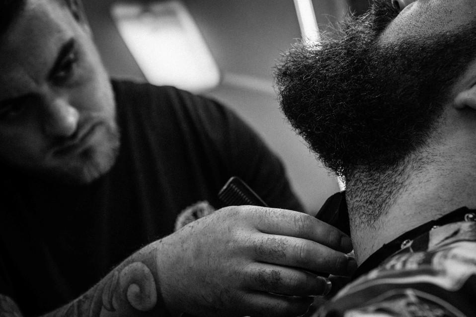 Brass Knuckle Barber co beard trim cut