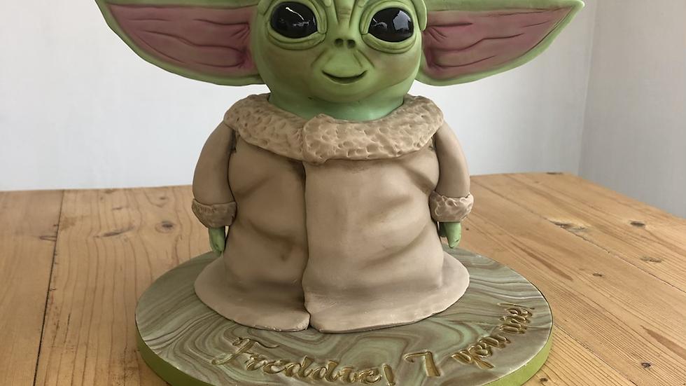 Baby Yoda Cake (serves 15-20)