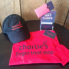 Holiday Shopping made easy at Charlie's. Long sleeve shirts, hats and gift cards in any amount.jpg
