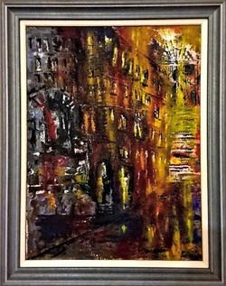 Dublin Stairway in Sunset I framed