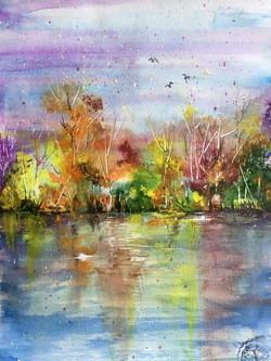 Autumn Watercolor A3