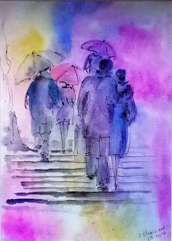 Rain Colors / Watercolor