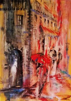 Rainy Day / Oil On Canvas