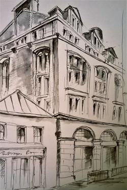 Edinburgh Street Fragment / Sketchbook