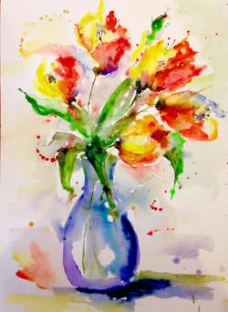 Tulips / Watercolor