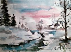 December / Watercolor