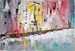 Winter Street / Oil On Canvas