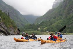 Seekajak in Norwegen