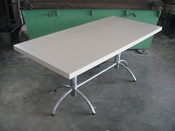 SS DINNING TABLE WITH KOREAN TOP.JPG