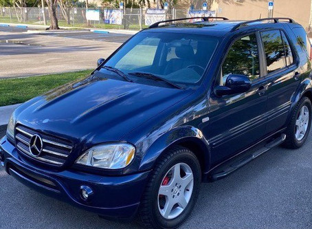 My Blue Heaven: 2001 ML55 AMG in Azurite Blue
