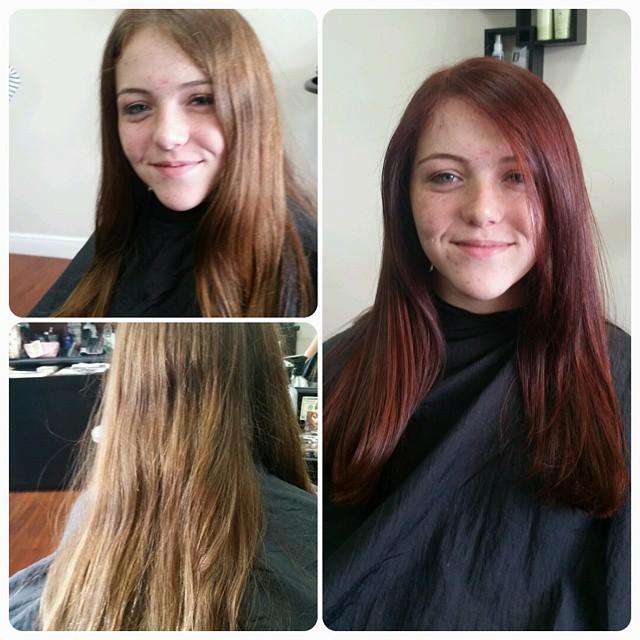 #red #newlook #splitendzsalon #happyclients #beauty #salon #style #hairstyle #behindthechair #keune