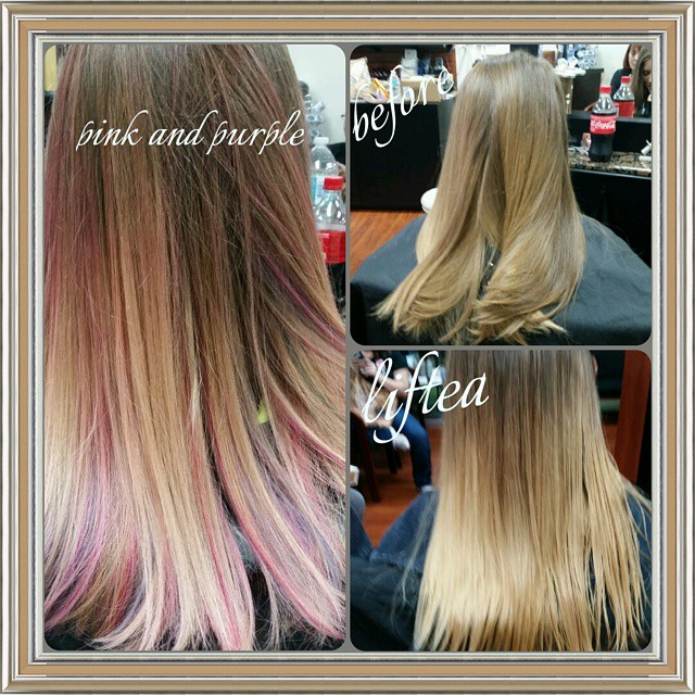 #balayage #blonde #newlook #pink #purple #newstyle #hairstyle #behindthechair #balayagehair #spliten