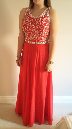 Prom dress after alterations 2