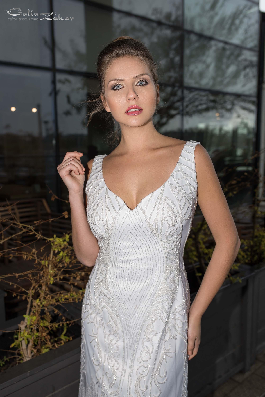 שמלת כלה חרוזי קריסטל