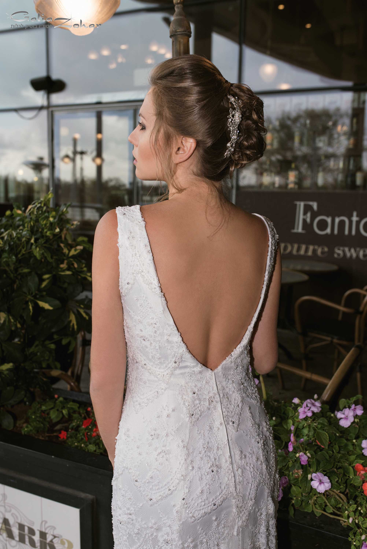 שמלת כלה בגב פתוח