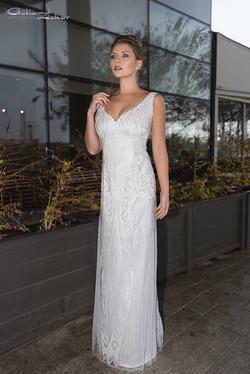 שמלת כלה מרשימה חרוזי קריסטל