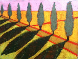 Belgian tree line shadows color