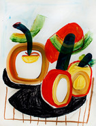 Four apples on the table