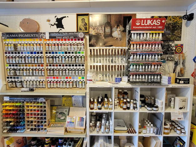 Oil paints and mediums