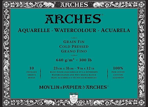 Arches C/P 9X12 block 300lb