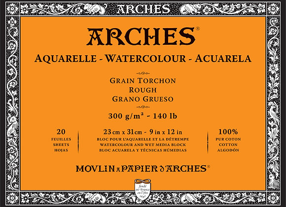 "Arches Rough W/C Block - 9x12"" 140lb"