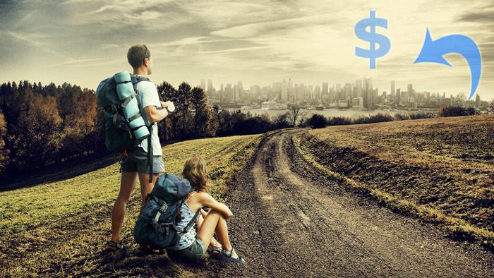 Na estrada sem dinheiro