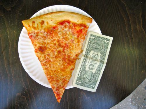 pizza de queijo e o dólar