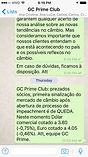 Boletins / Broadcasts GC Prime Club - Câmbio