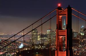 Golden Gate San Francisco noite