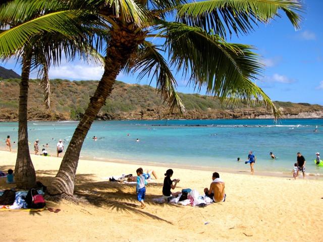 Praia de Hanauma Bay, Havaí, Oahu. Foto: Gustavo Candiota