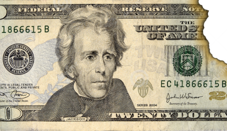Dólar manchado, rasgado, queimado ou mutilado. Há como trocar?