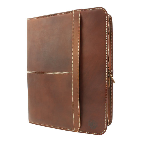Pull Up Leather Folio Case