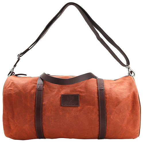 Orange Canvas Barrel Bag